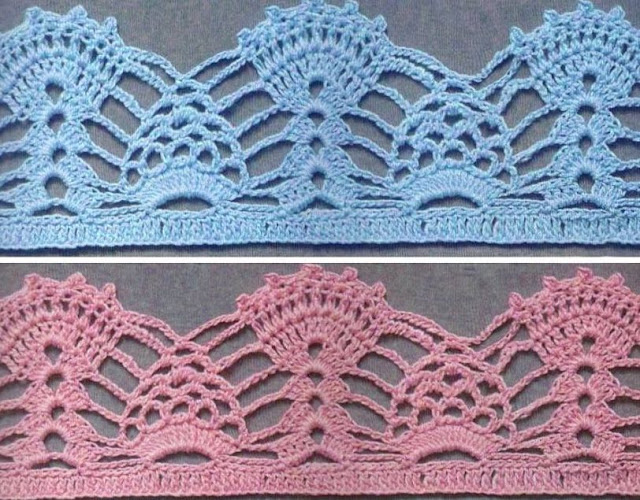 Patrón #1594: Puntilla a Crochet