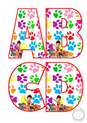 abecedario de patrulla canina