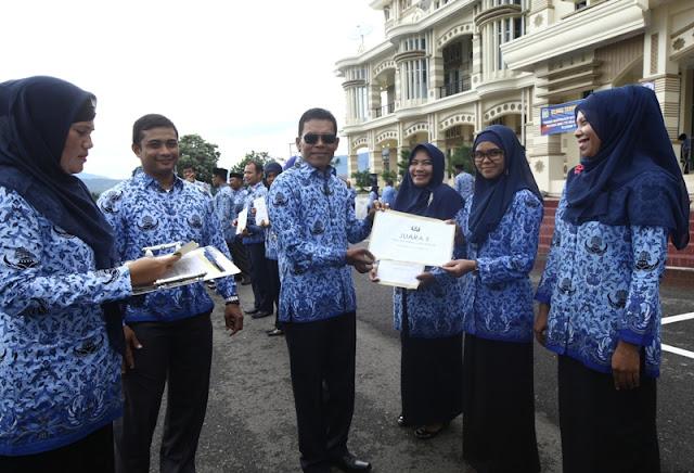 HUT KORPRI, Bupati Aceh Besar Ingin PNS Mudahkan Birokrasi Untuk Masyarakat