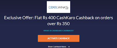 Cashkaro CoolWinks Loot : Get Rs 85 Free in Bank And Free Sunglasses / Eyeglasses [Unlimited Times] ~ Free Recharge Tricks, Online Loot Deals - Dealsnloot