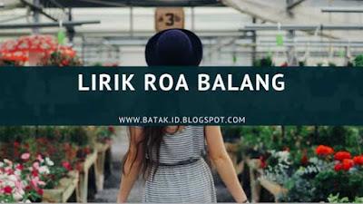 Lirik Roa Balang - Aura Trio