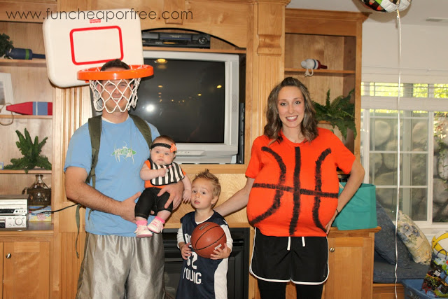 (when we went trick-or-treating my husband wore the basketball shirt along with the hoop and it was WAAAY funnier.)  sc 1 st  Fun Cheap or Free & Our DIY Halloween costumes plus AMAZING Halloween clearance deals ...