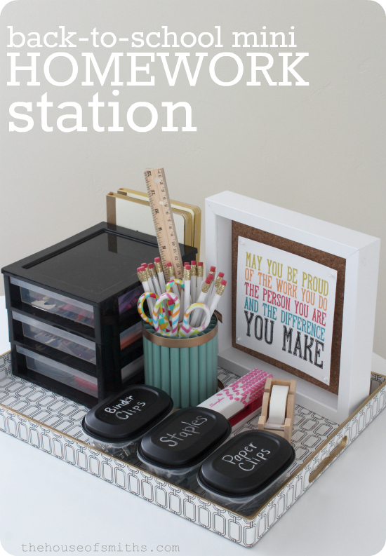 Back to School mini Homework Station - Krylon Mystery Box Challenge - thehouseofsmiths.com