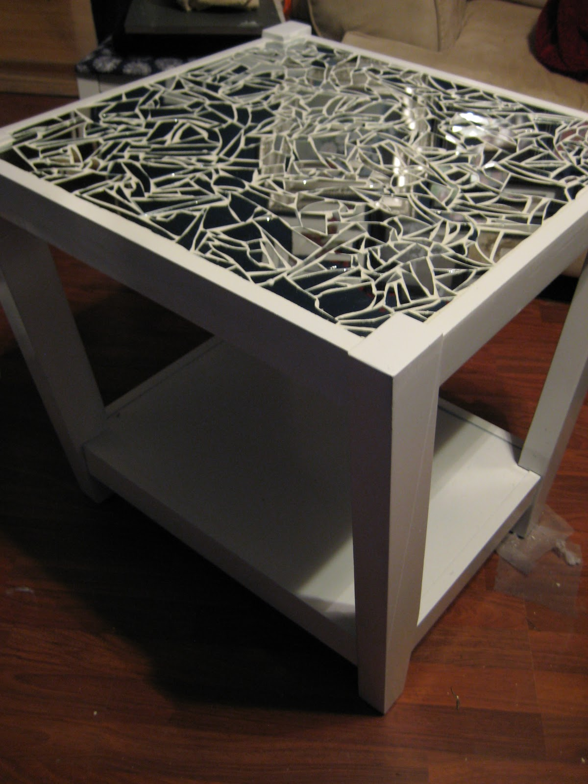 Tedious Tinkering Mirrored Mosaic Tables