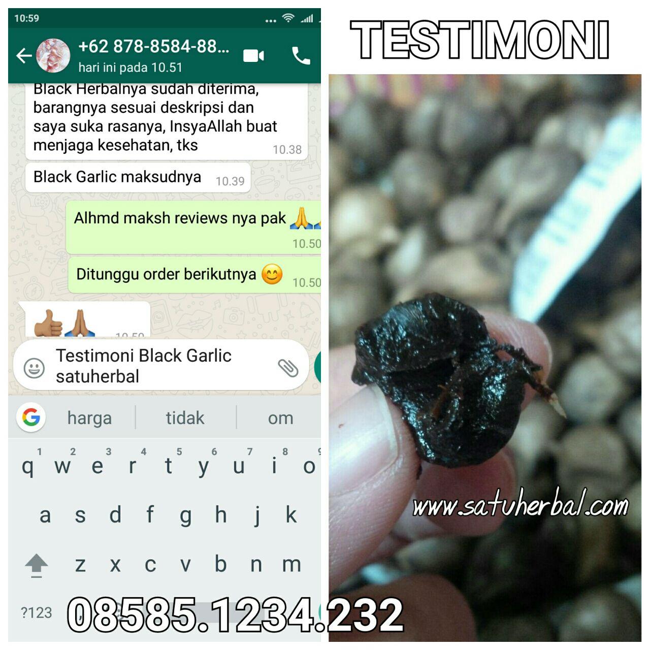Lagi Testimoni Black Garlic Bawang Putih Hitam Satuherbal Tunggal 500 Gr
