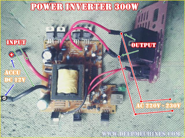 Bagian dal Mesin Power Inverter - DC 12V ke AC 220V/230V