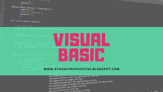 vidual basic. actividad 8 leccion evaluatica 2, programacion