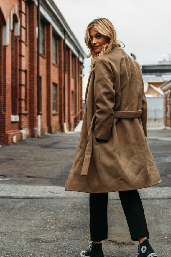 A Weekend-Ready Way to Wear a Camel Coat — Barbara Di Creddo Model Style