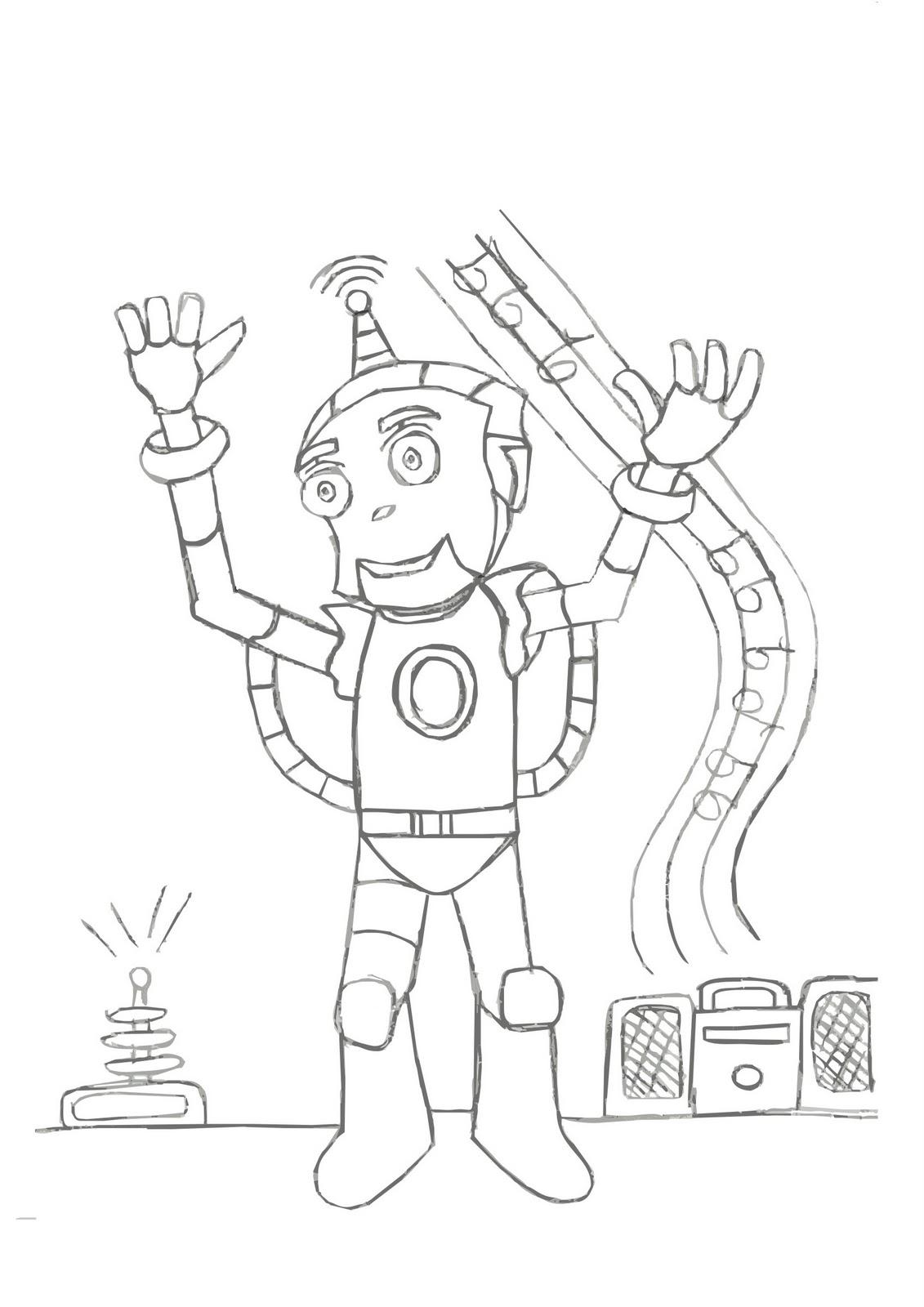 Desenhos Para Colorir Desenho Para Colorir De Robo Robo Para