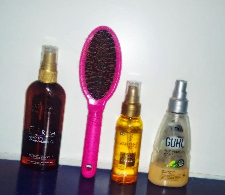 Schlaufenhaarbürste gegen Spliss, Bürste gegen Spliss, Schlaufenhaarbürste, Haarbürste mit Schlaufen, tägliche Haarroutine