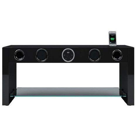 soundvision soundstand80b noir meuble tv amplifi auchan avis sur les produits. Black Bedroom Furniture Sets. Home Design Ideas
