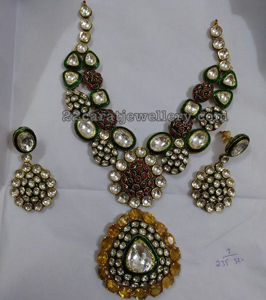 Jadau Polki Set by Satyanarayana Jewellers