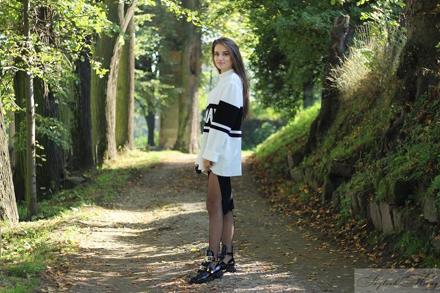 biało czarna stylizacja