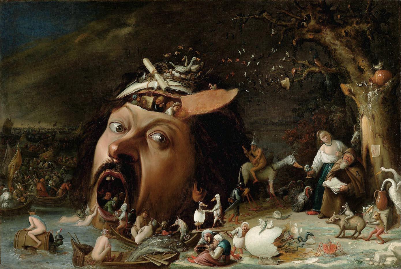"""Résultat de recherche d'images pour """"tentation de saint antoine joos van craesbeeck"""""""