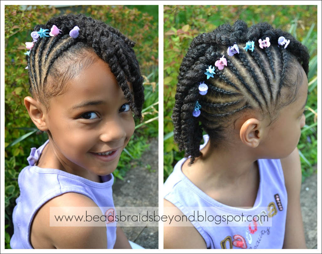 Beads Braids And Beyond Side Cornrows With Two Strand Twists