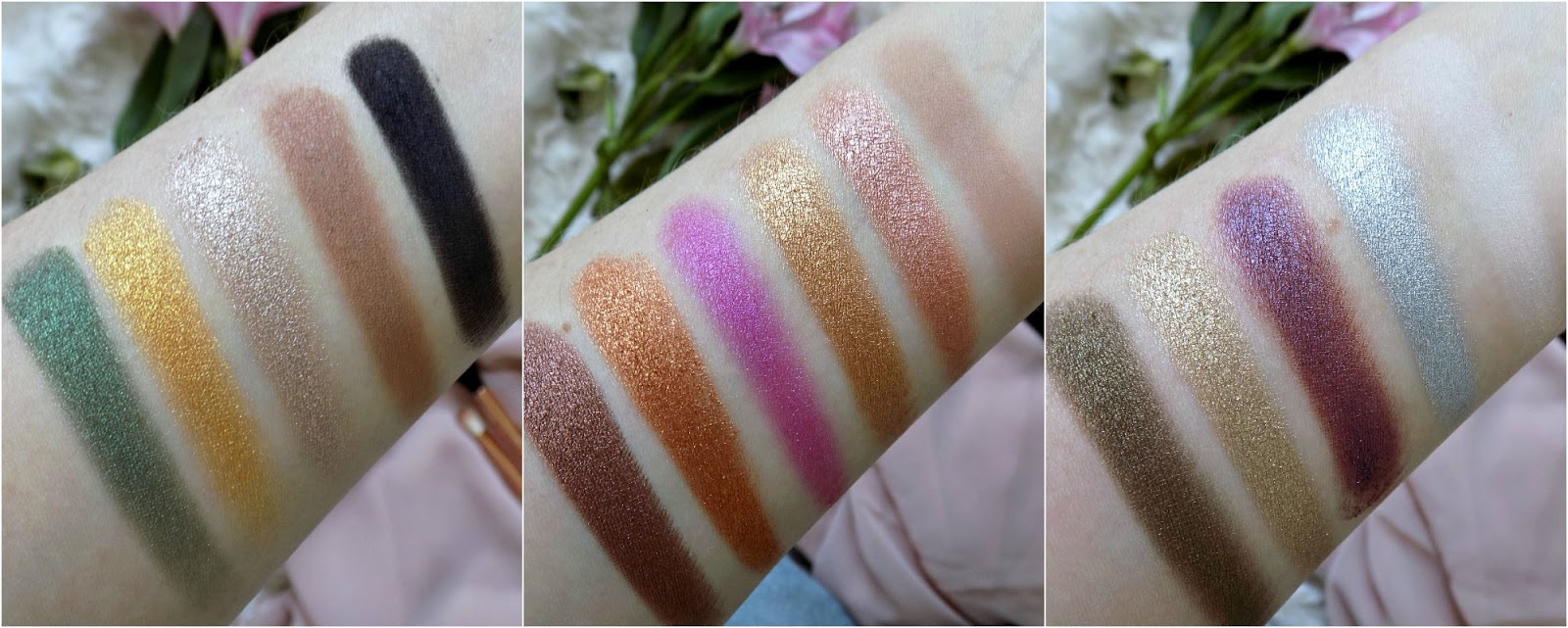 Too Faced Chocolate Gold palette swatches