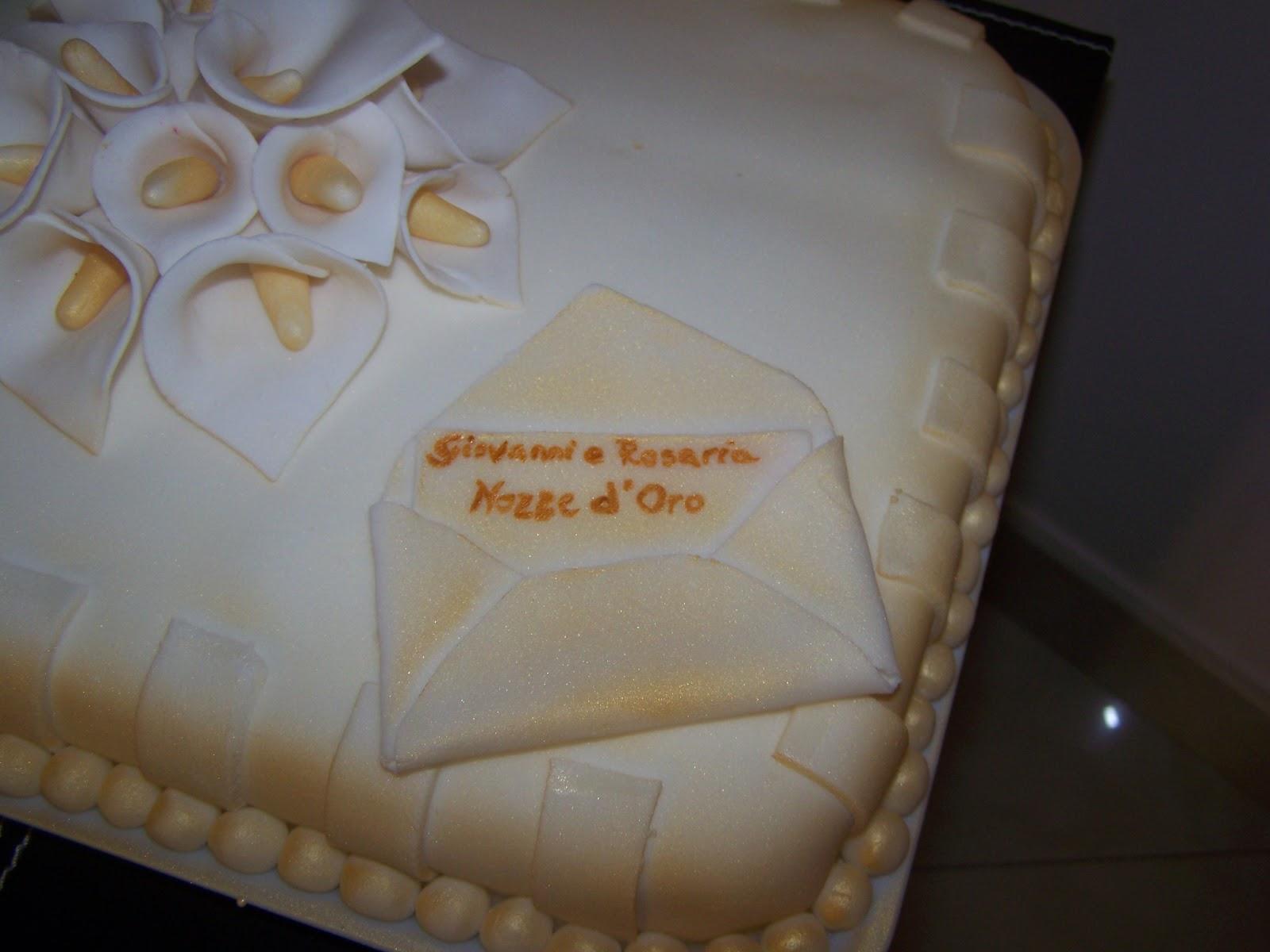 Un bab per amico torta per i 50 anni di matrimonio for Decorazione torte per 50 anni di matrimonio