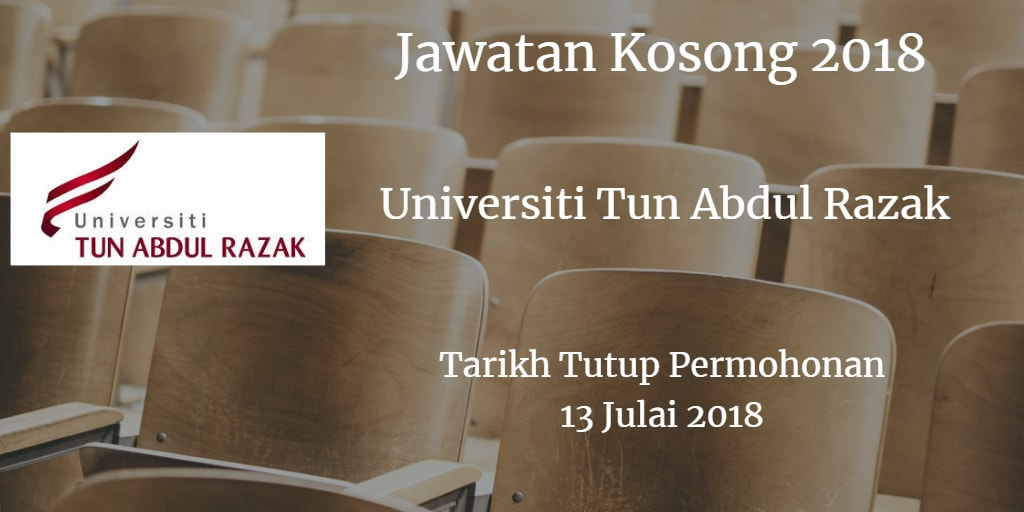 Jawatan Kosong UNIRAZAK 13 Julai 2018