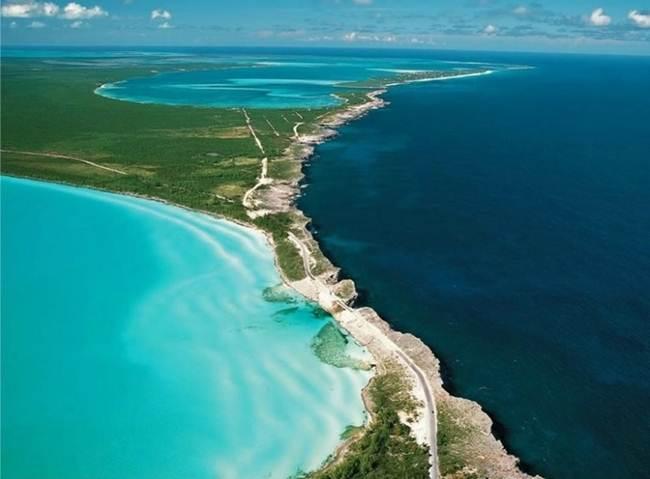 Caribbean Sea and the Atlantic Ocean