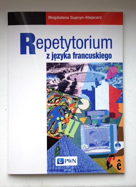 """Recenzje #20 - """"Repetytorium z języka francuskiego"""" + konkurs - okładka """"Repetytorium z języka francuskiego"""" - Francuski przy kawie"""