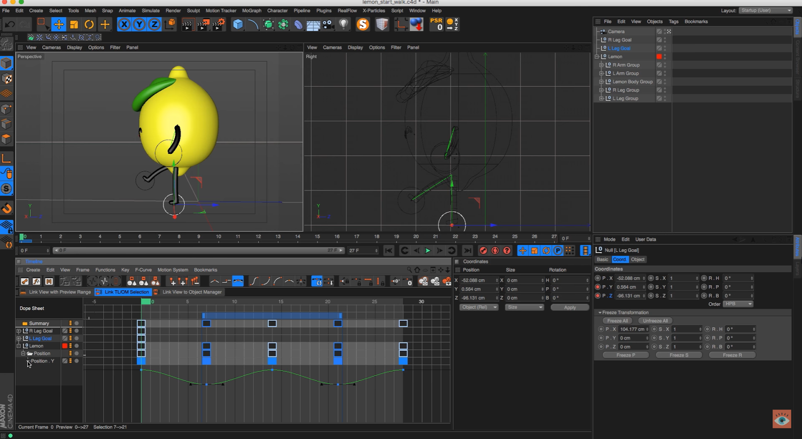 How to Rig and Animate a Character Walk Cycle in Cinema 4D