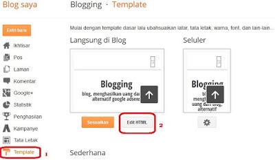 cara memasang iklan revenuehits di blogger