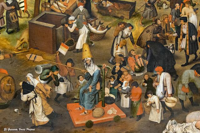 Pieter Bruegel, La Lucha del Carnaval y la Cuaresma (detalle) - Kunsthistorisches Museum, Viena por El Guisante Verde Project