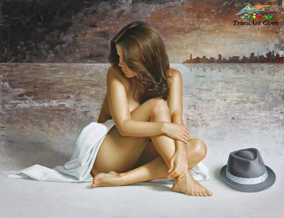 tranh thiếu nữ nude
