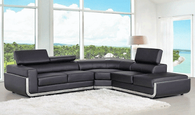 Bouvardia Modern Leather Sectional Sofa Furniture