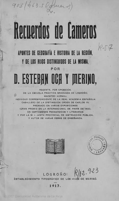 Recuerdos de Cameros, Esteban Oca