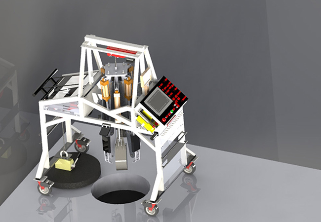 Tinuku Genrobotic Innovations developed robot to automate manhole cleanup