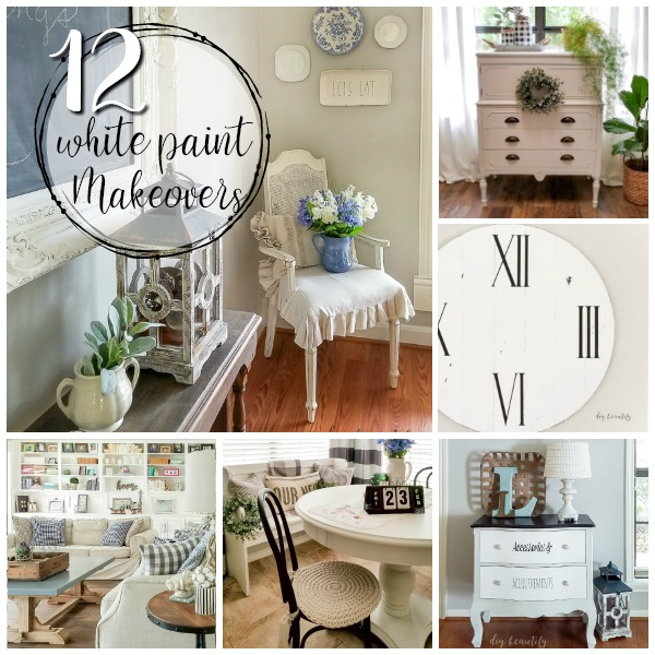 12 white paint furniture makeovers