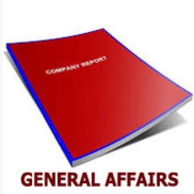 Format Laporan Bulanan Departemen General Affairs Powerpoint Lama Pedia