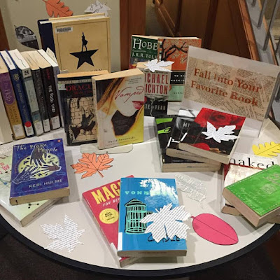 Mildred F. Sawyer Library pleasure reading display, Fall 2017