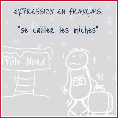 expression en français, se cailler les miches, expressions françaises, FLE, le FLE en un 'clic'