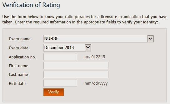 Verification of Ratings December 2013 NLE