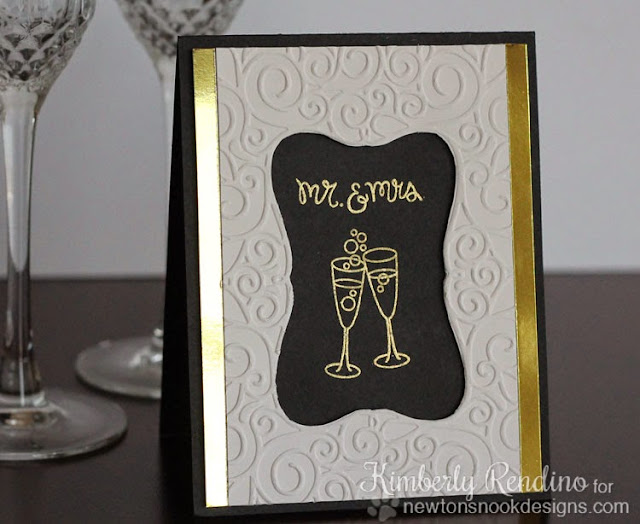 wedding card by Kimberly Rendino for Newton's Nook Designs | Years of Cheers | wedding card