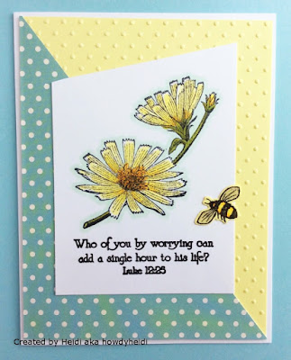 ODBD Don't Worry, ODBD Chicory Single, ODBD Butterfly and Bugs, ODBD Custom Butterfly and Bugs Dies, Card Created by Heidi aka howdyheidi