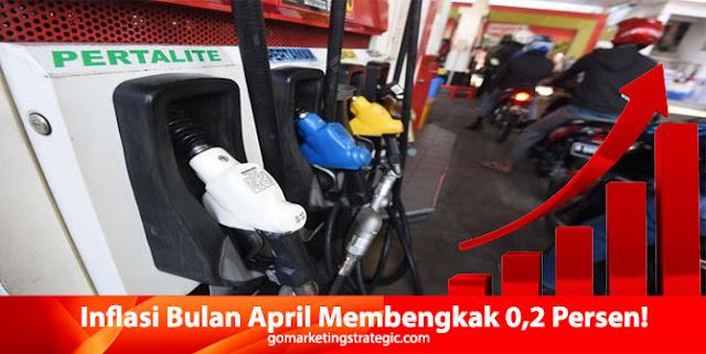 Inflasi Bulan April Membengkak 0,2 Persen Akibat BBM Naik