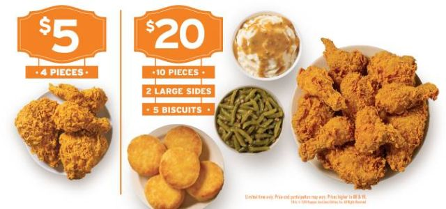 image regarding Popeyes Coupon Printable named Popeyes Specials $5, $10, and $20 Fried Hen Bargains Manufacturer