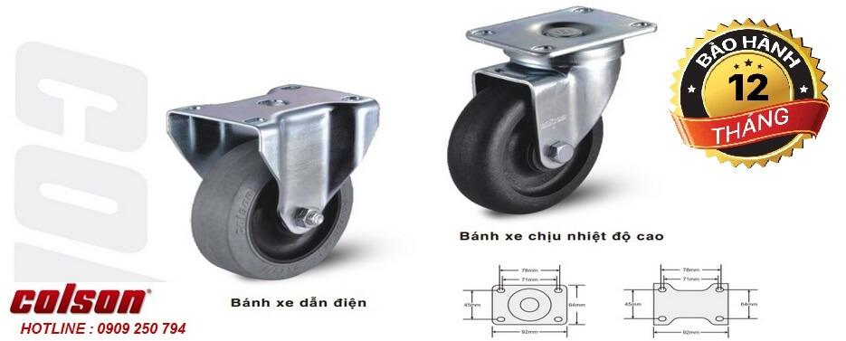 Bánh xe chống tĩnh điện chịu nhiệt Colson Caster Mỹ www.banhxedayhang.net slide5