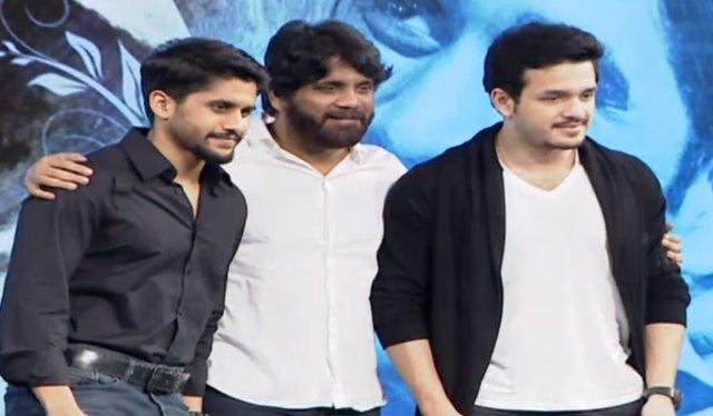 nagarjuna,naga chaitanya,Akhil at Premam movie audio launch