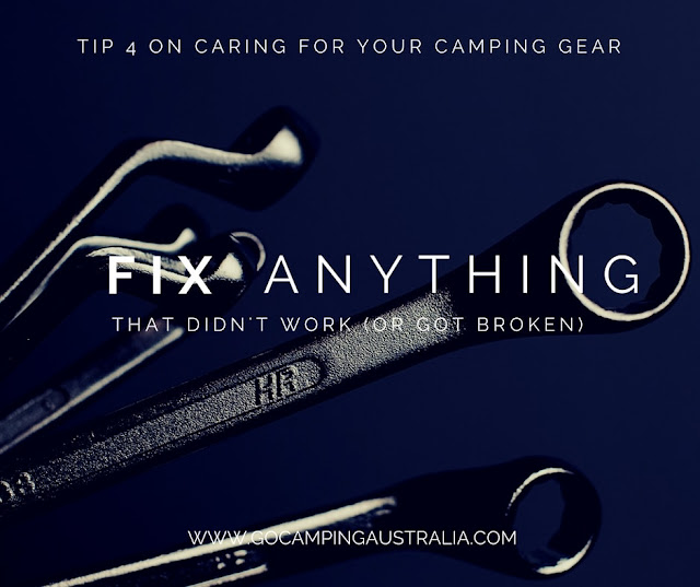 Caring for your camping gear - 5 things you should do when the trip is over.