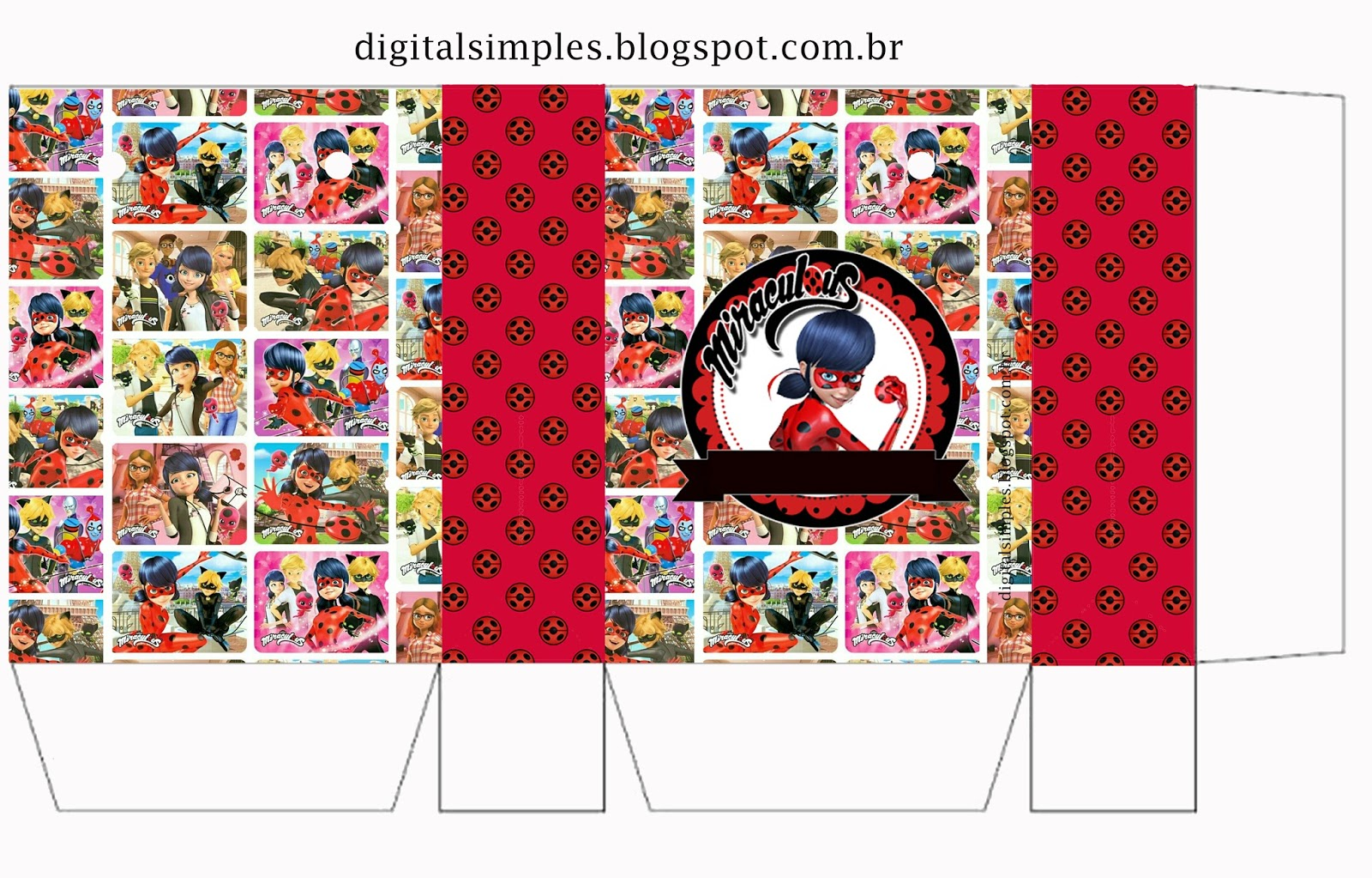 Miraculous Ladybug:Free Printable Boxes. | Oh My Fiesta ...