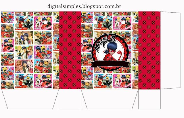 Miraculous Ladybug Free Printable Box.
