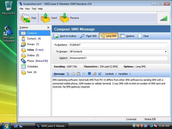 SMS Caster V3 6 (BULK SMS MESSAGING) Full Version + Key