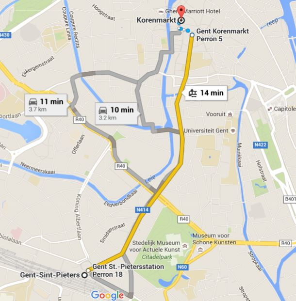 Travel Around The World One Night in Ghent Belgium