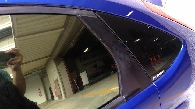 【生活分享】五股金讚汽車 Golden Top - 不愉快的烤漆經驗 (前傳) - 被通知取車,遠遠看第一印象是不錯的 - 烤漆交車前做好所有清潔處理應該是必備吧?