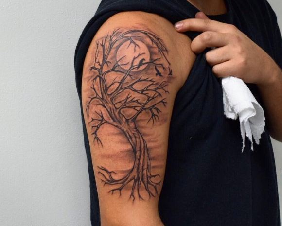 50+ Simple Tree Tattoos For Men (2020) Ideas & Designs
