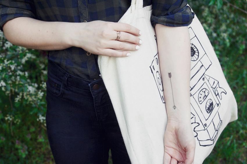 tatuaż tymczasowy strzała